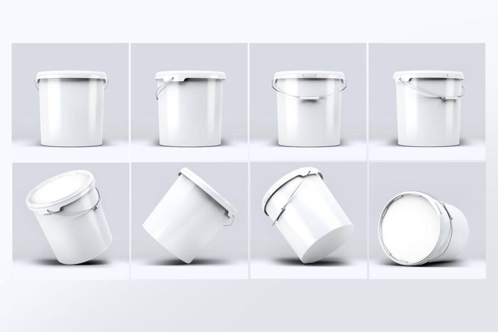 塑料油漆桶/街头艺术喷绘样机模型素材下载Plastic Paint Bucket Mock Up插图(2)