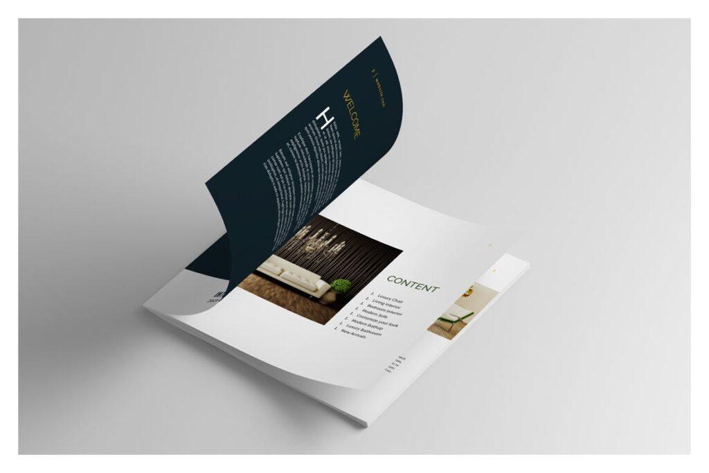 多用途目录/小册子/投资组合画册杂志模板Portfolio Brochure Catalogs插图(2)