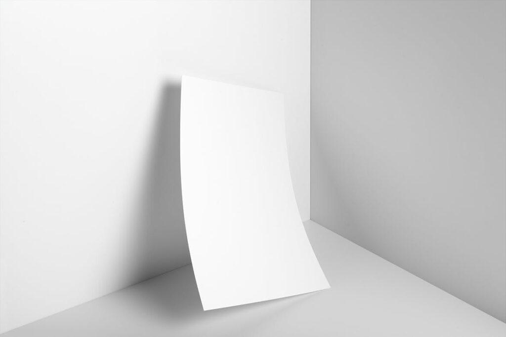 海报/信笺或传单PSD模型样机下载Poster A4 Letterhead Mockup Vol3插图(2)