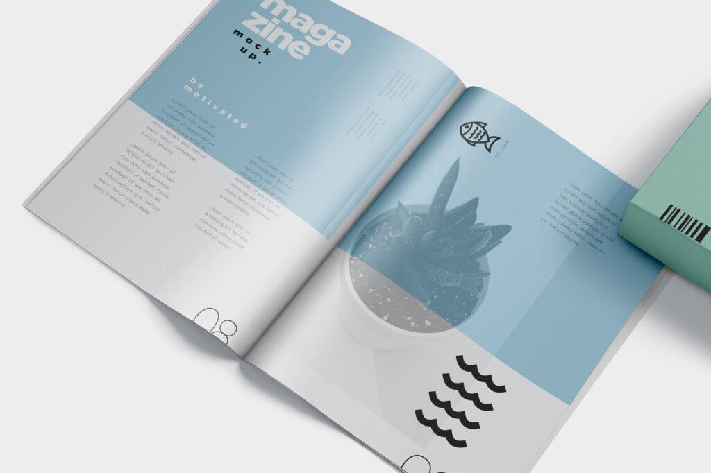 精致音乐主题类型画册样机Premium Magazine Mockups插图(2)