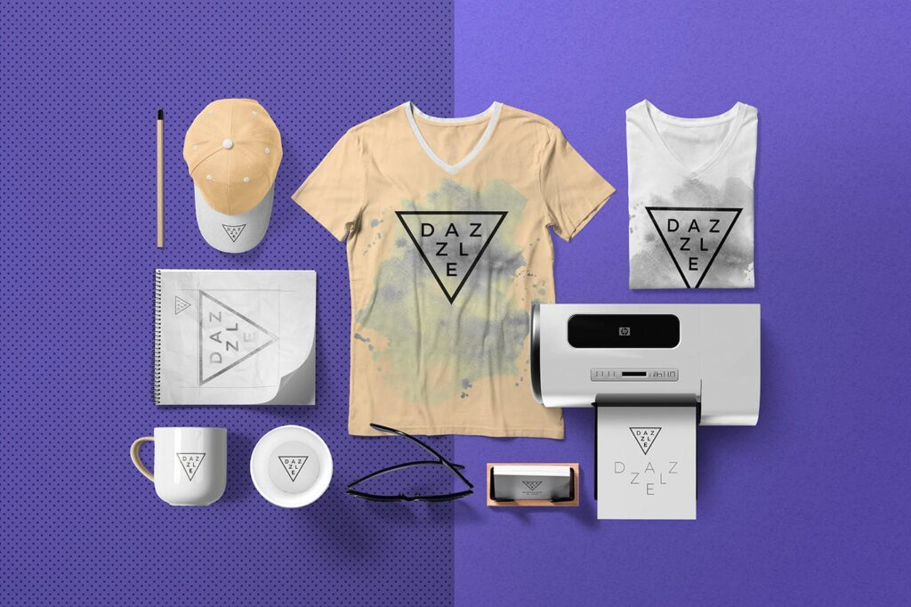 优质的灰色T恤展示场景模型样机素材Premium Quality T shirt Mockup Scenes TUJFU4插图(2)