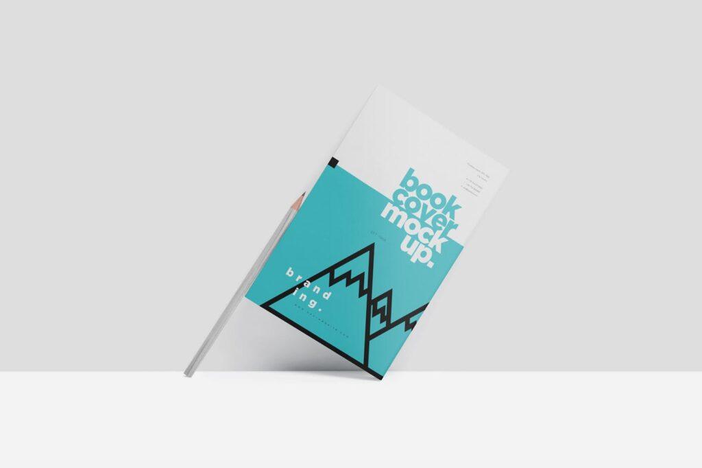 精致文艺书籍封面样机模型效果图Realistic Book Cover Mockups插图(2)