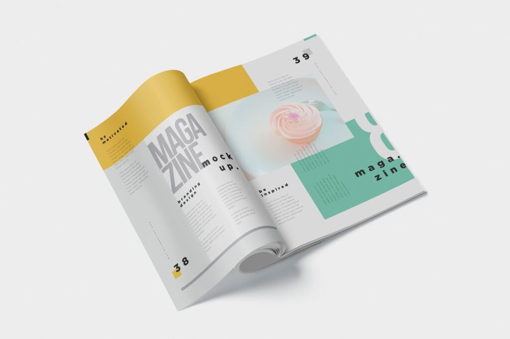 5个多角度精致文艺画册展示样机Realistic Magazine Mockups 24hpnx9插图(2)