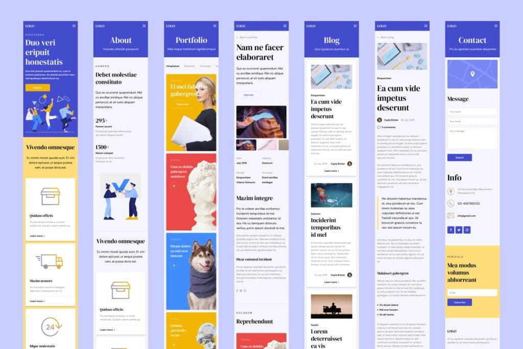 互联网行业响应式网站UI模板素材Responsive Template插图(3)