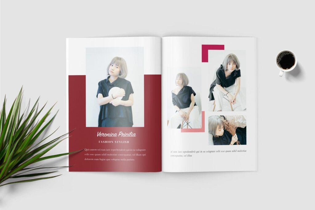 多用途企业简介模版素材画册展示样机Selena Fashion Lookbook Magazine插图(2)