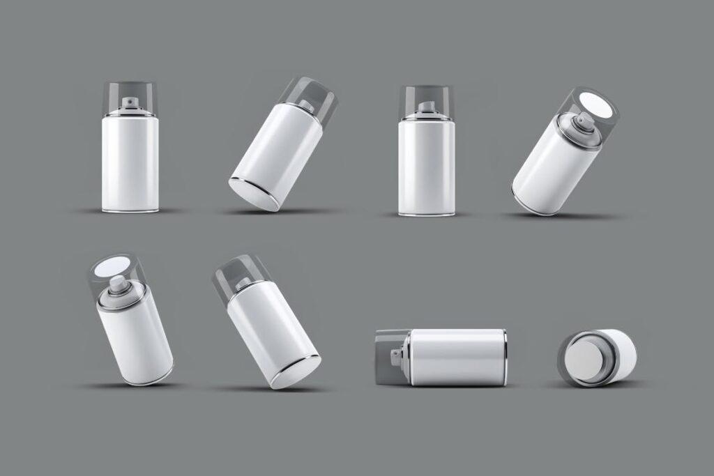 高级喷雾罐喷漆模型样机素材下载Spray Can MockUp v2插图(2)