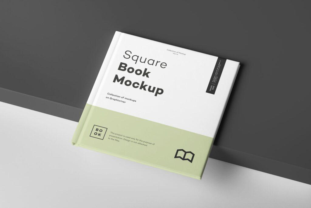 文艺优雅正方形书籍样机模板下载Square Book Mock up 2插图(2)