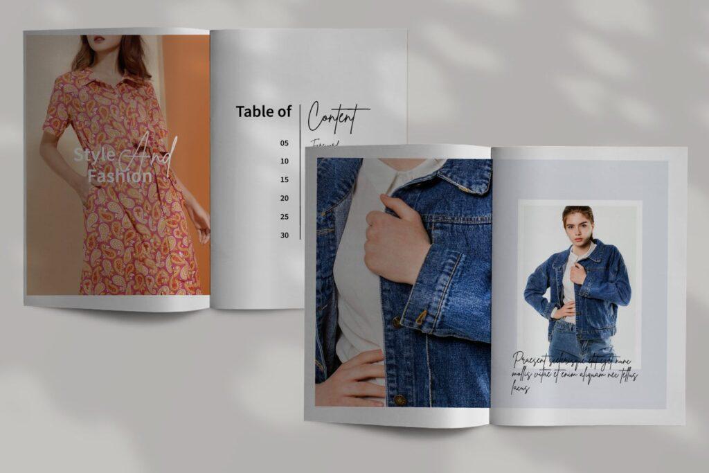 工作室室内设计行业产品目录展示画册Style Fashion Brochure Minimal Company Agency插图(2)
