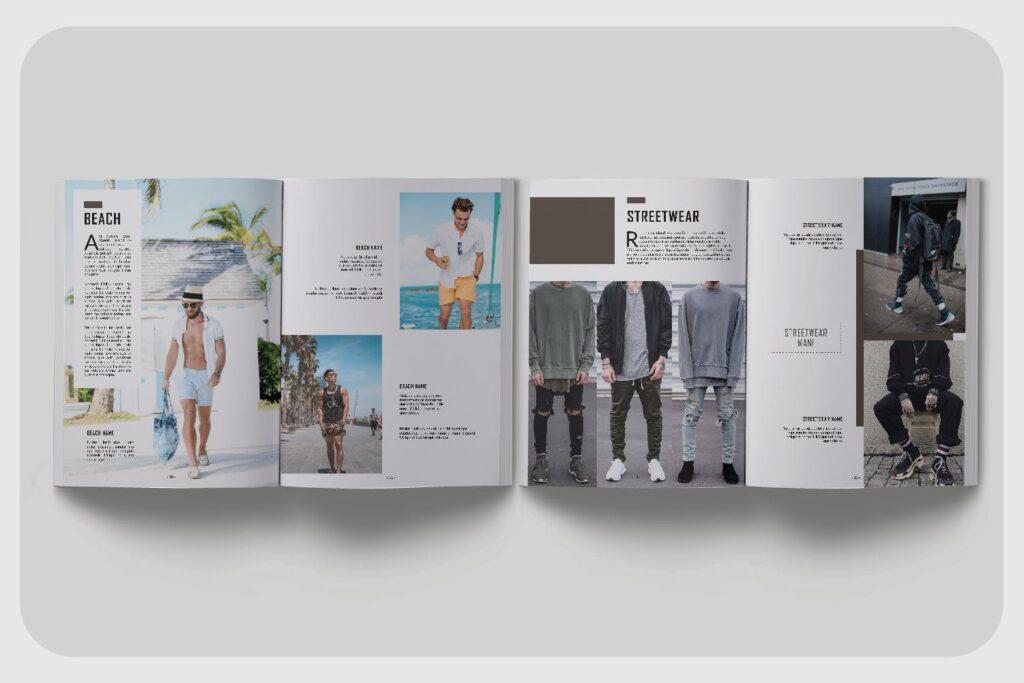 潮流男士服装品牌杂志模版The Mens Lookbook Magazine插图(2)
