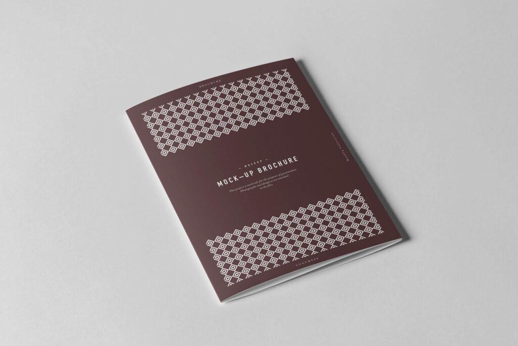 三折A5小册子模型素材模板样机下载Tri Fold A5 Brochure Mock up 2插图(2)