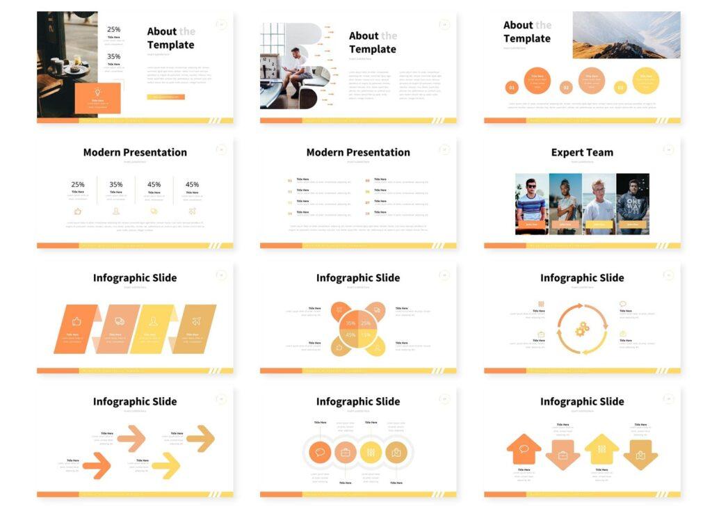 互联网公司市场销售数据汇演ppt幻灯片模板Varica Google Slide Template插图(2)