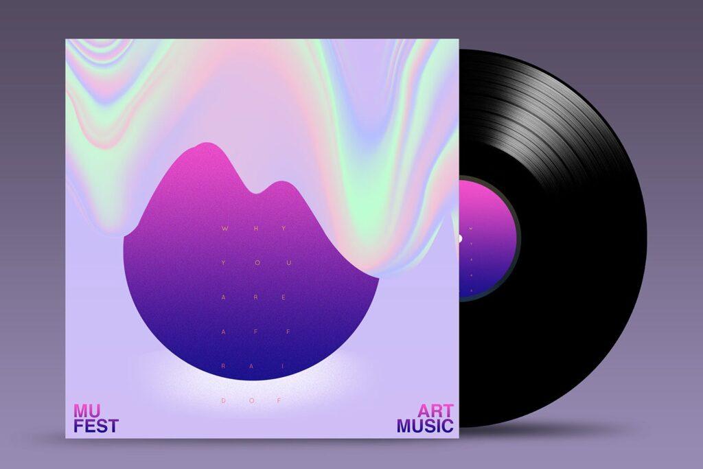 精致古典CD唱片样机模型效果图Vinyl Mock Up Template插图(2)