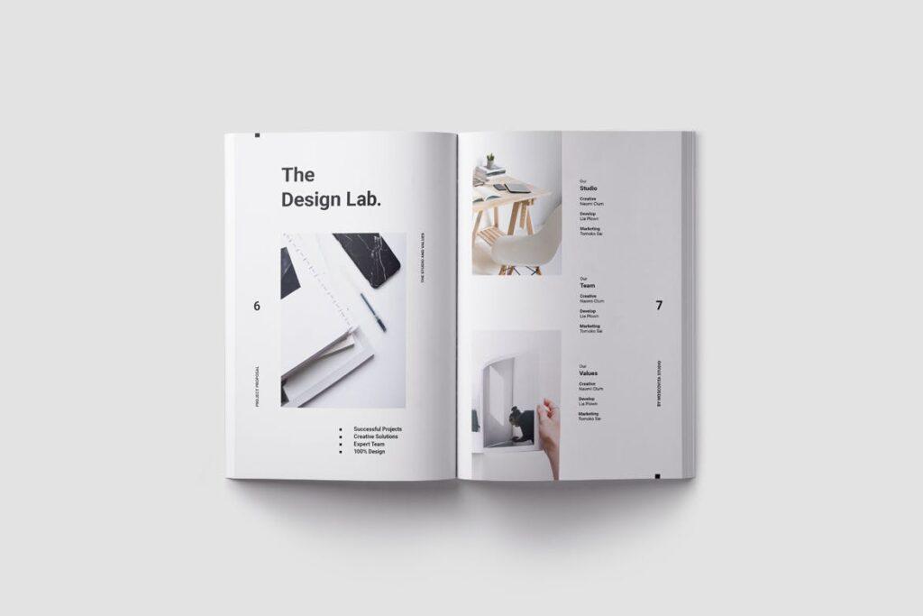 现代生活极致简洁家居设计/室内设计画册模版Voom Proposal插图(2)