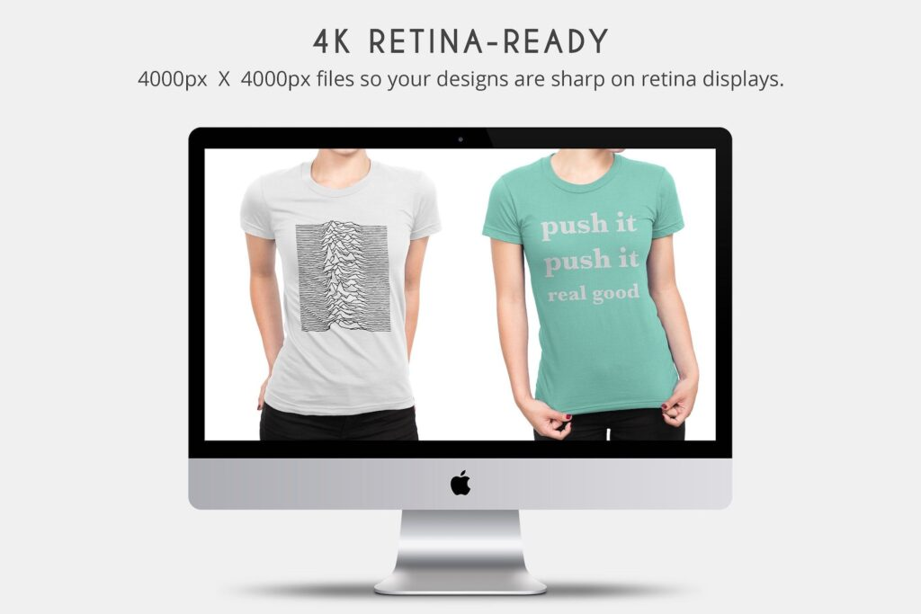企业文化衫/高质量的t恤模板样机下载Womens T Shirt Mock ups插图(2)