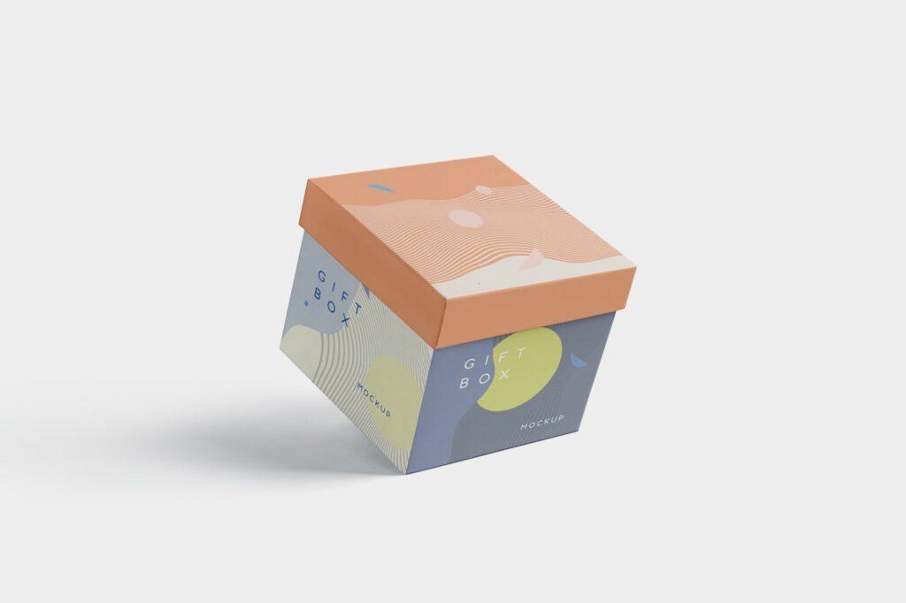 5个礼品包装盒/生日礼物模型样机模型效果图5 Attractive Gift Box Mockups插图(3)