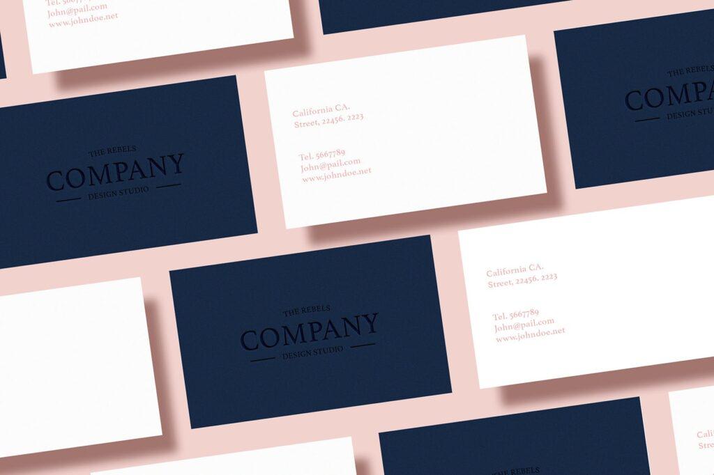 5个多场景名片展示样机效果图5 Business Card Mock Up Pack Vol 01插图(3)