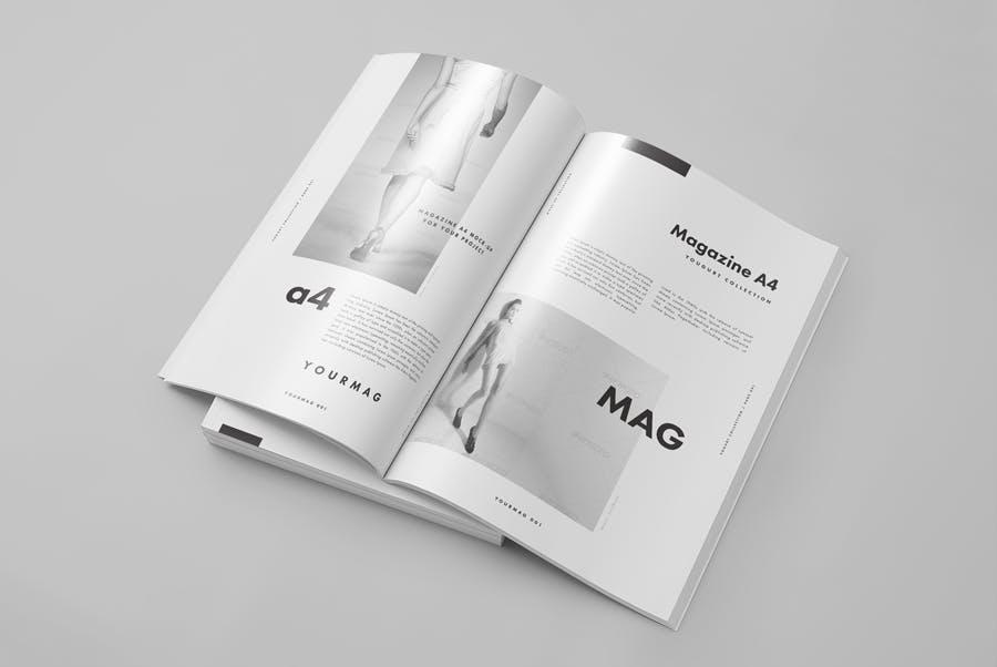 逼真的A4艺术类杂志/目录模型样机A4 Magazine Mockup 2插图(2)