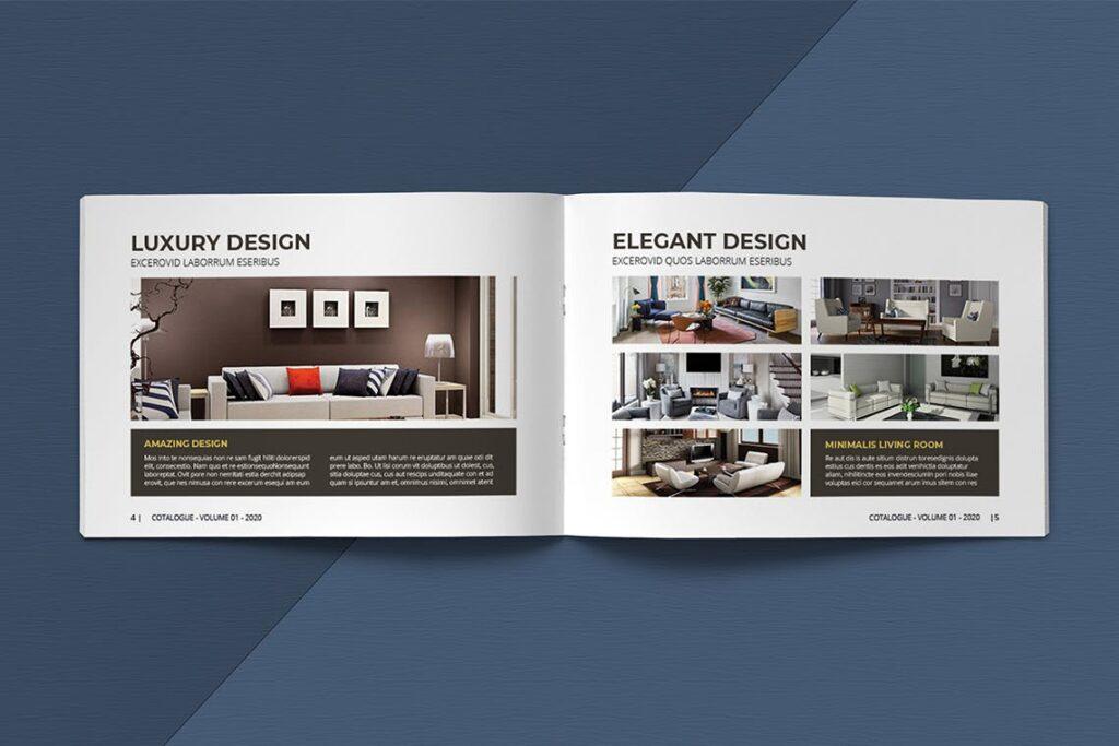 横版家居室内设计画册杂志模版A5 Interior Catalogue ASFEWQ插图(3)