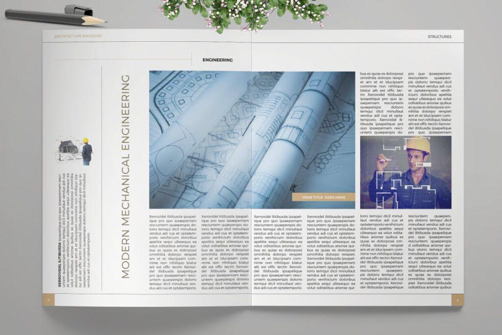 建筑设计/生态空间规划杂志模板Architecture Magazine插图(2)