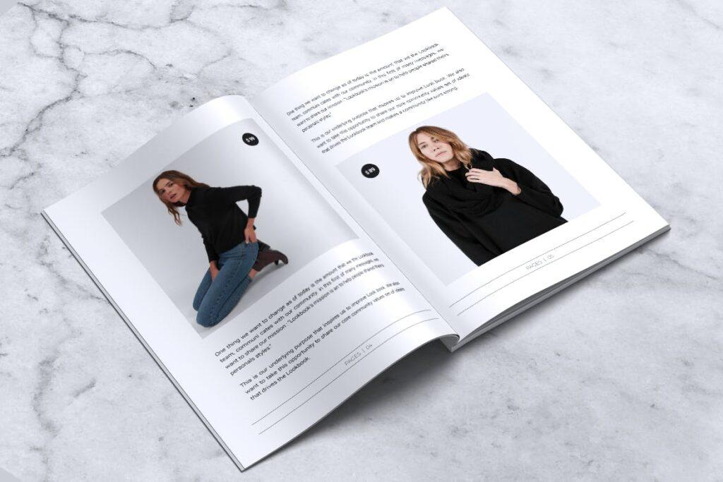 女性时尚服装品牌杂志模板BLANKS Minimal Fashion Magazine插图(3)