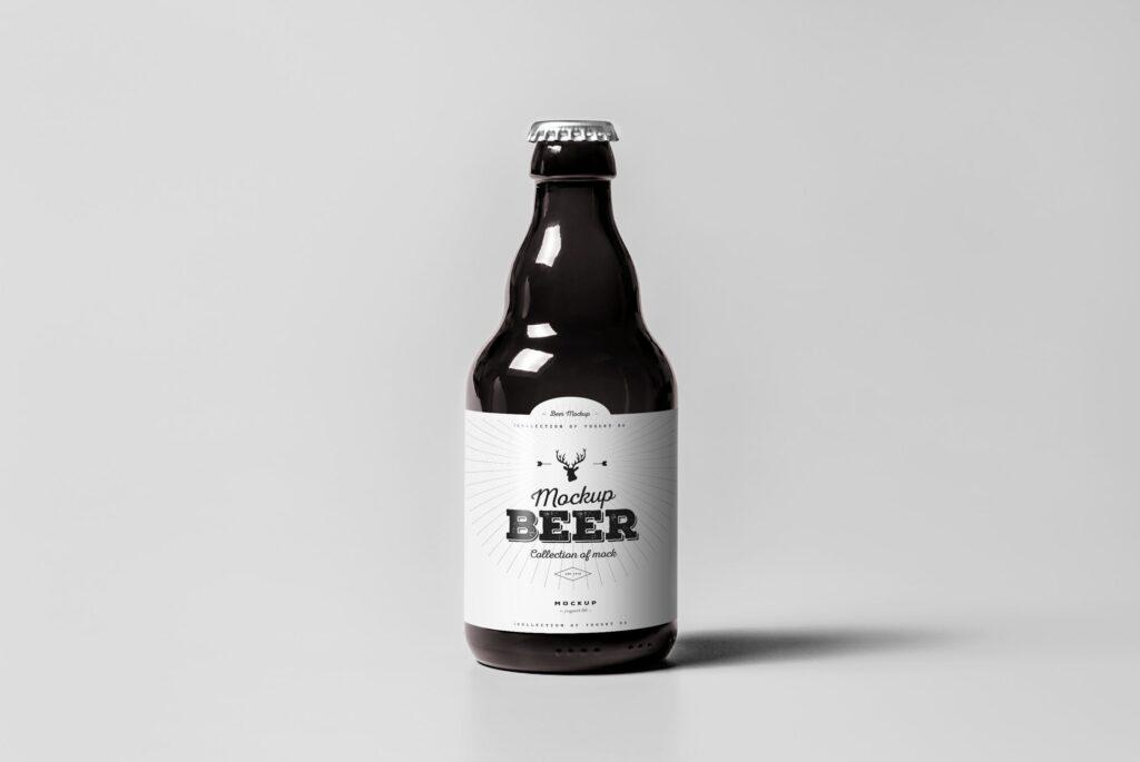 啤酒品牌包装/啤酒瓶包装模型样机模型下载Beer Mockup 2 DV9XAA插图(3)