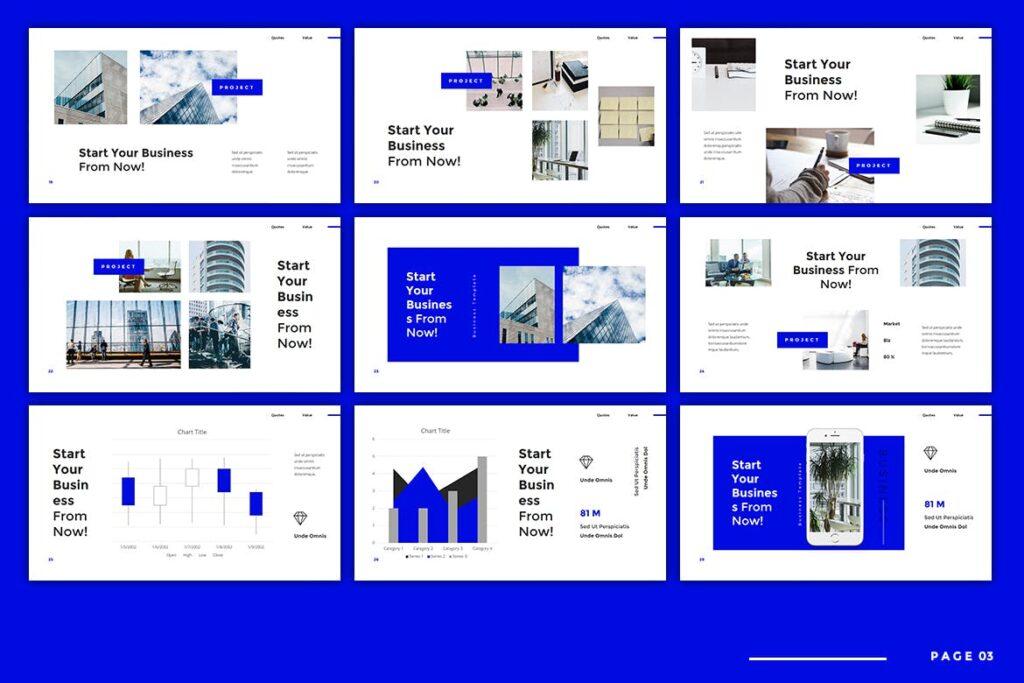 建筑设计类概念设计主题概念演讲PPT幻灯片模板Bonka Business Keynote插图(3)