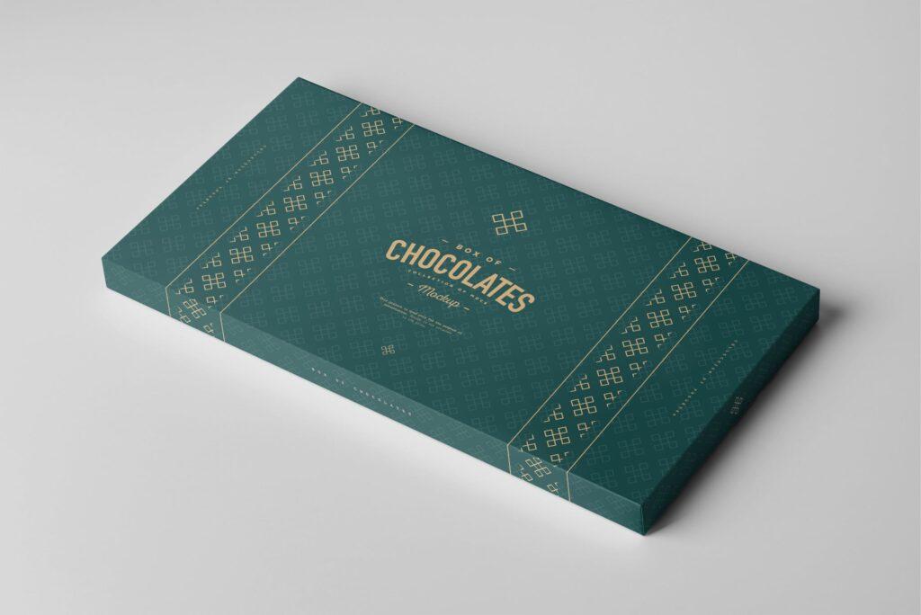 精致巧克力品牌包装模型样机效果Box Of Chocolates Mockup 2插图(3)