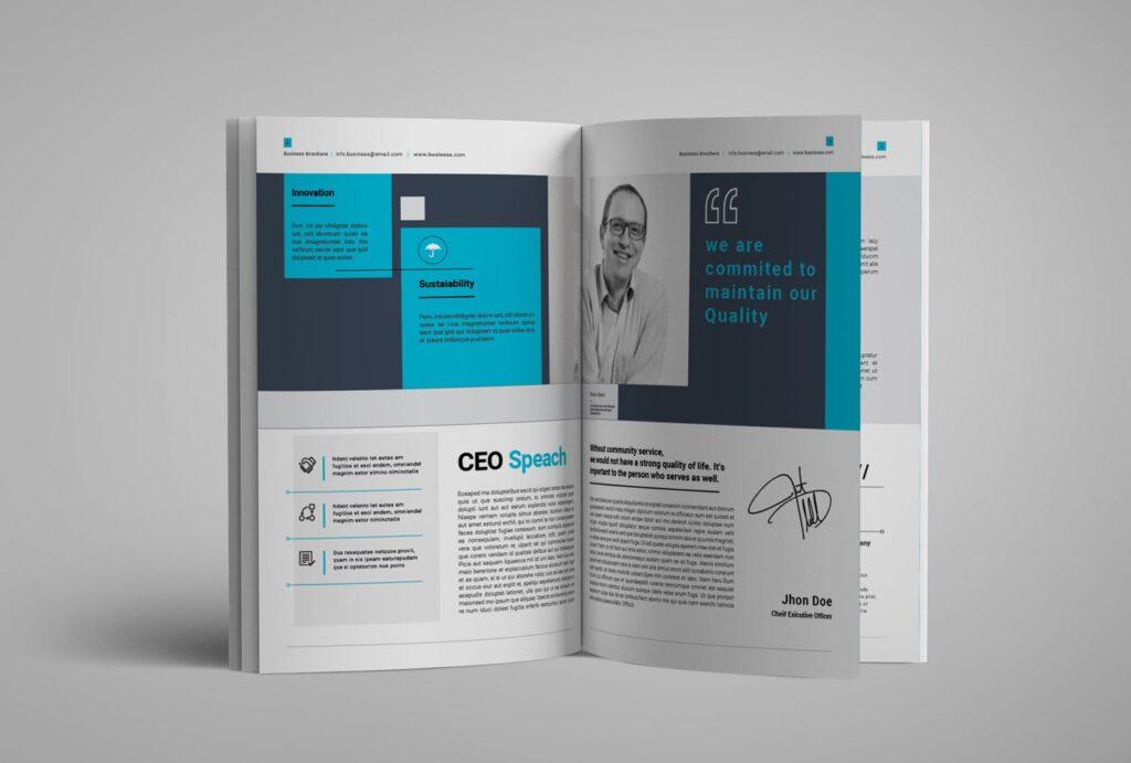 企业简介商务手册历史介绍杂志画册模板Business Profile插图(3)