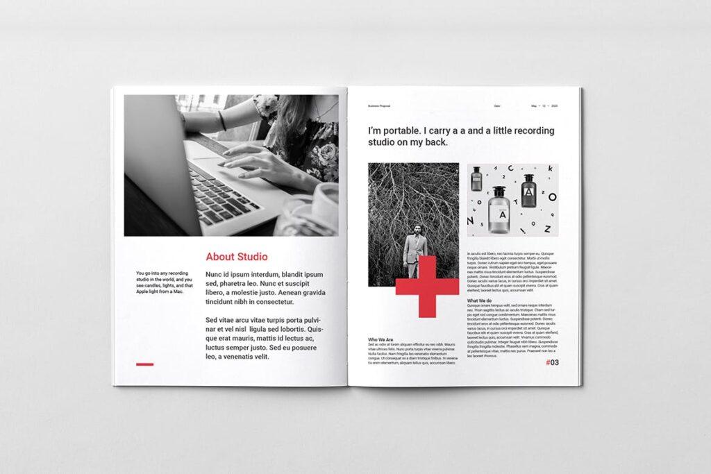 公司手册项目企划书画册模版素材Business Proposal插图(3)