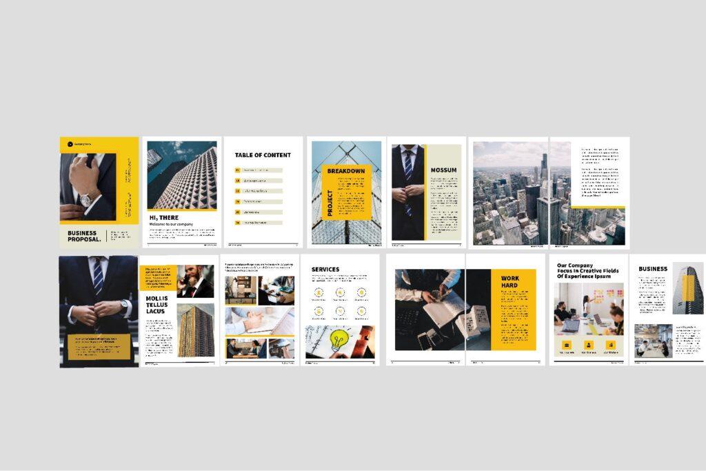 企业商务类画册模板素材画册模板Bussiness Proposal Brochure Company插图(2)