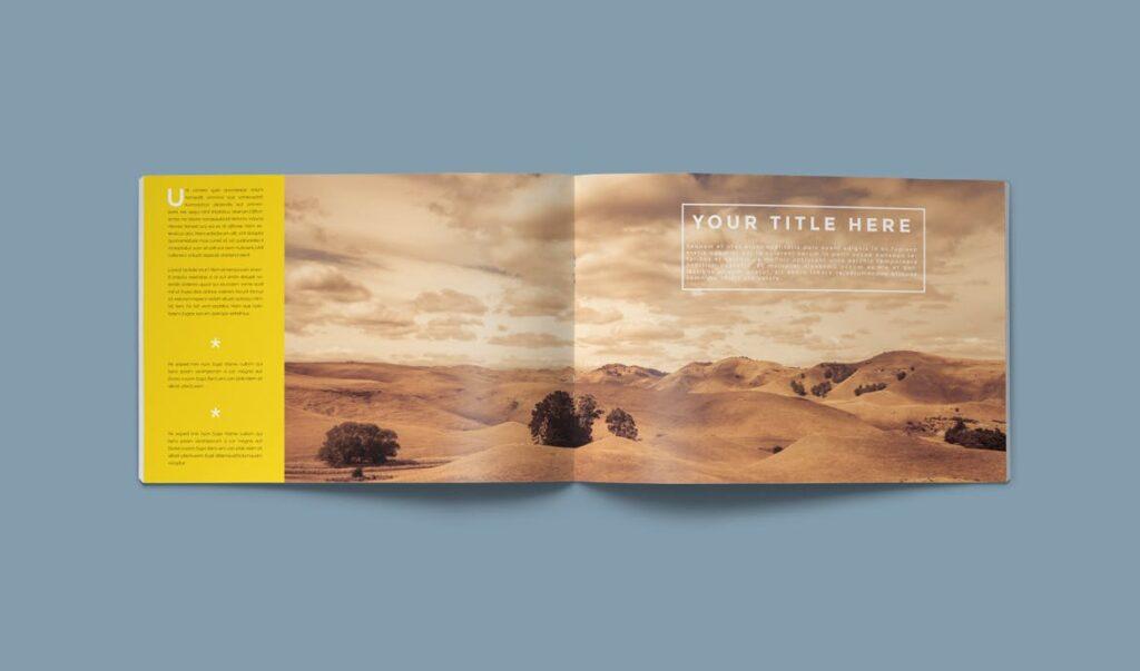 横版企业小册子/目录模板画册杂志模板Clean Brochure Catalog Template插图(3)