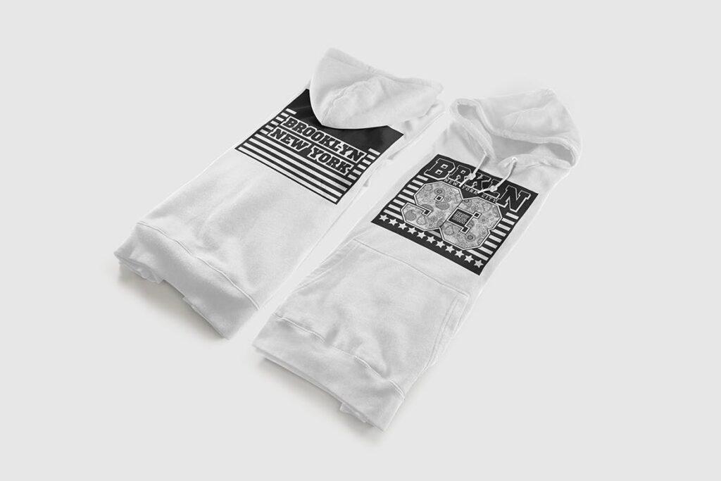 多色卫衣服装品牌样机模型素材样机pColor Hoodie Sweatshirt Mockup插图(3)