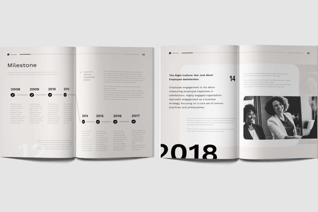 企业产品介绍画册模板素材Company Profile D9JHZJ插图(2)
