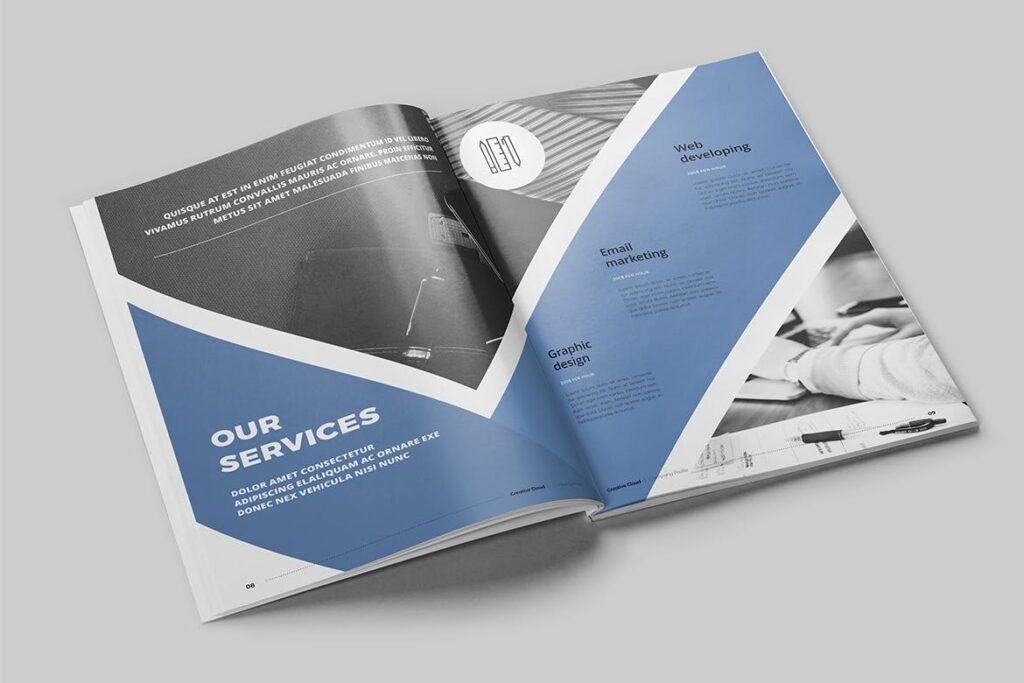公司简介画册杂志模板素材下载Company Profile YT7HTG插图(3)
