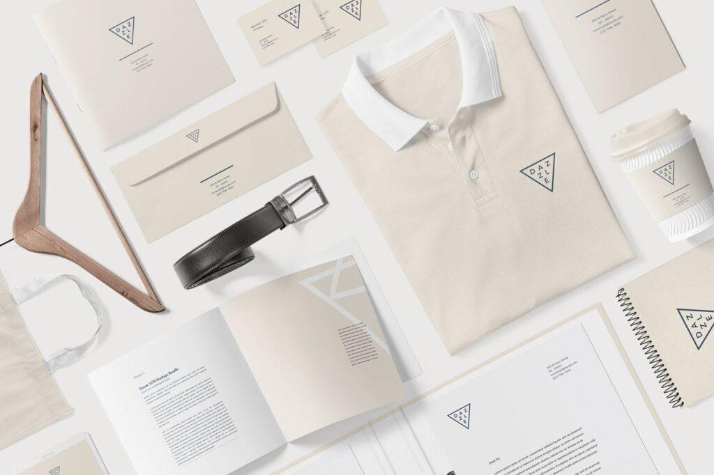 互联网企业品牌办公文具样机模型素材下载Corporate Branding Mockup Scenes插图(3)