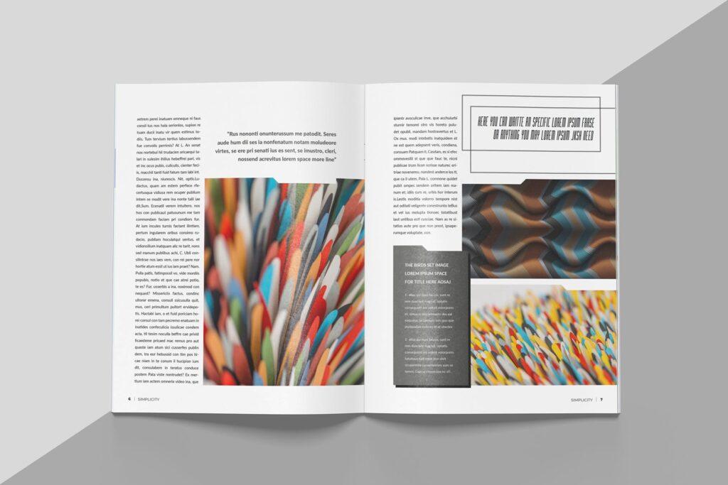 艺术品绘画作品展览画册杂志模板Create Magazine Template插图(3)