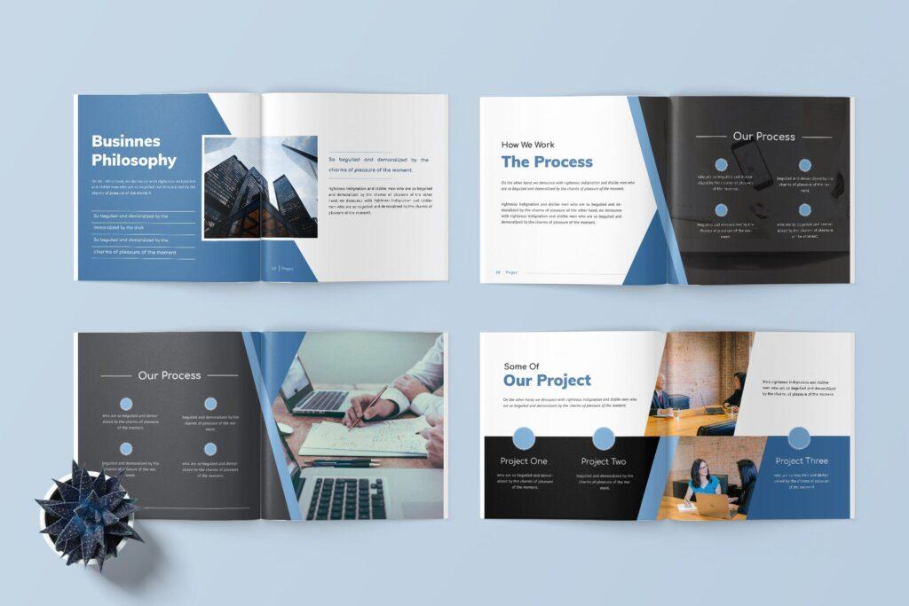 企业商务手册/内部手册杂志模版素材Delano Business Portfolio Template插图(3)