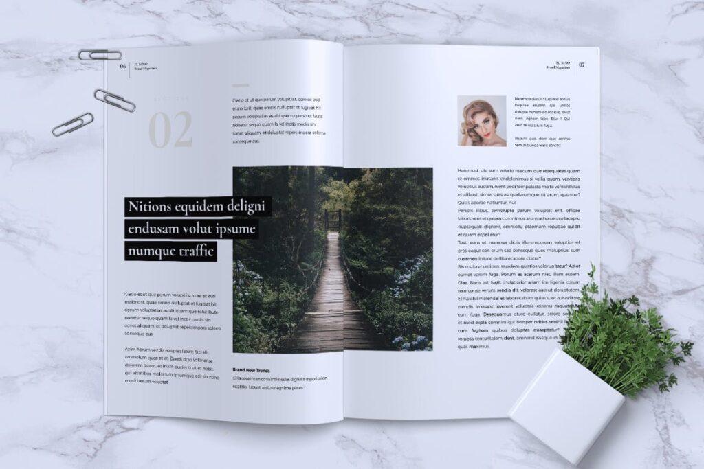 高端企业品牌宣传画册模板ELNINO Minimal Magazine插图(3)