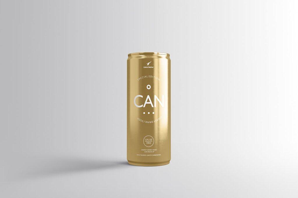 简约能量/苏打饮料易拉罐包装模型样机Energy Soda Drink Can Packaging MockUps Vol1插图(3)