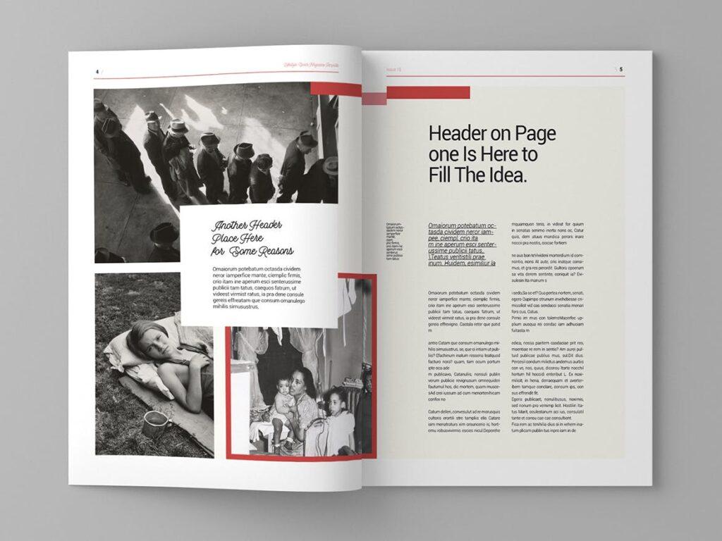大纪元历史记录风格杂志画册模板素材Epoch Magazine Template插图(3)