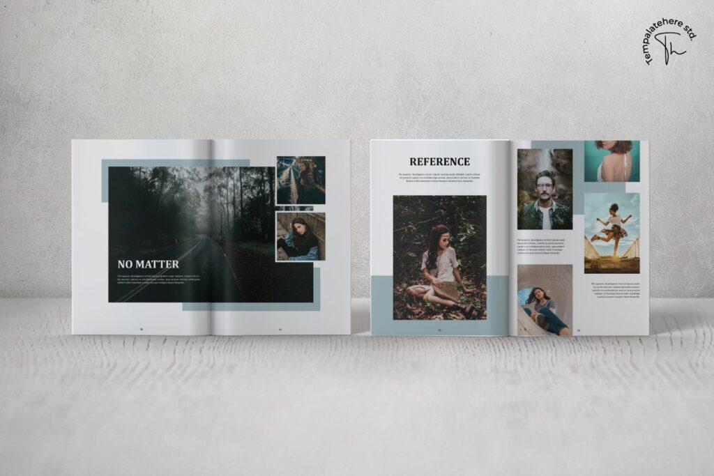 现代简约中性的杂志设计风格Essential Magazine Template插图(3)