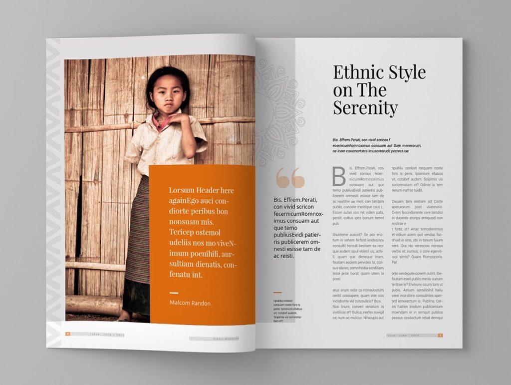 少数民族特色文化主题杂志模板Ethnic Magazine Template插图(3)