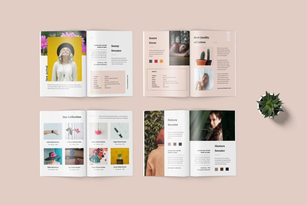 女性时尚服装高端品牌品牌画册模板Fashion Lookbook Catalogue插图(3)