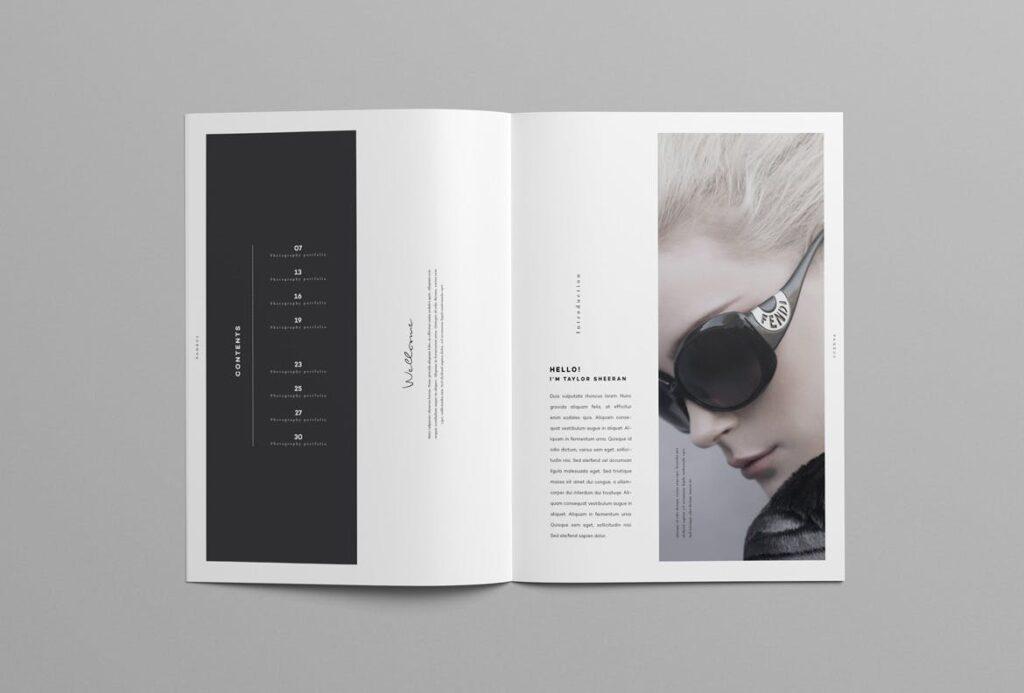 时尚摄影简洁板式画册杂志模板素材下载Fashion Photography Catalog Brochure插图(3)