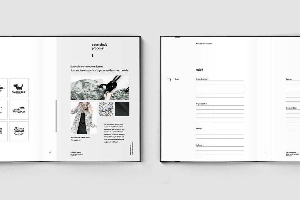 多用途商务手册企业画册模版素材Fashion Proposal插图(3)