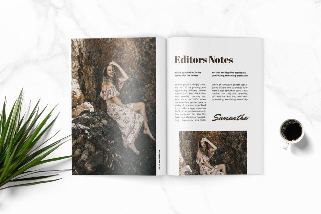 多用途企业产品商务手册模板素材Feels Fashion Magazine Template插图(3)