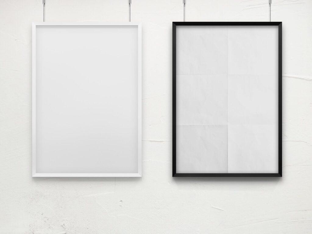 海报展示画框相框模型样机效果图Frame For Your Work 2插图(3)