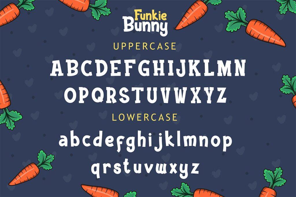卡通无衬线手写英文字体下载Funkie Bunny Fancy Font (+EXTRA)插图(3)