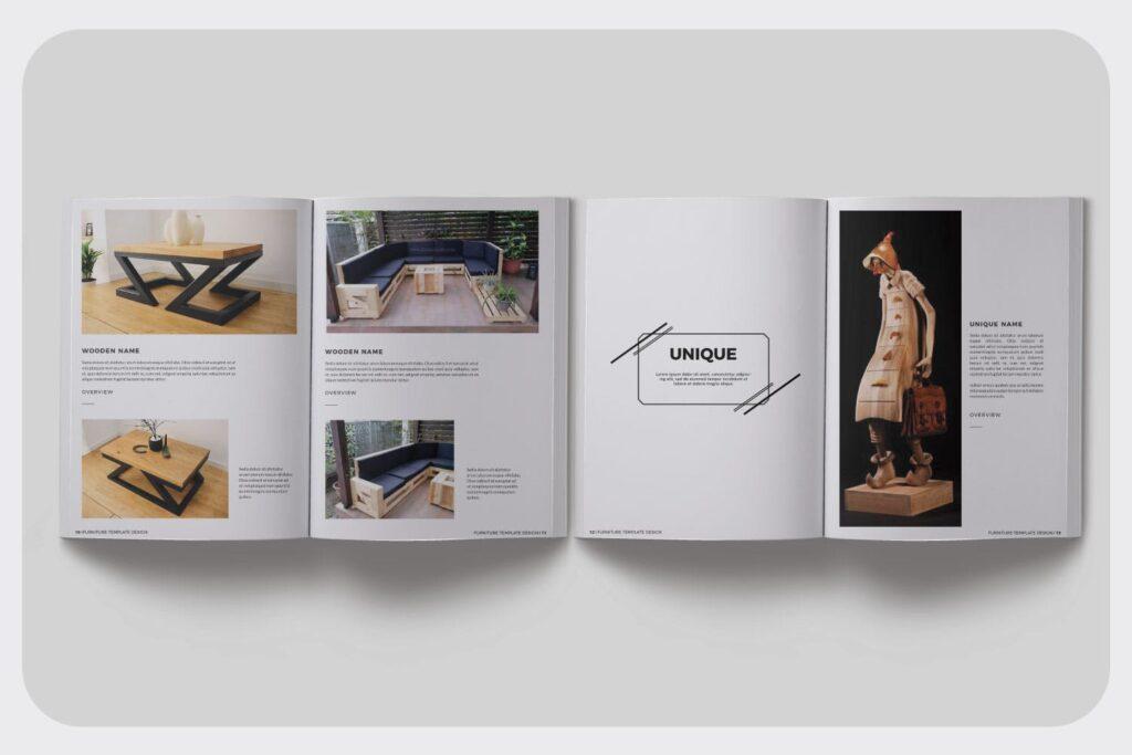 家具设计/室内设计画册杂志模版设计Furniture Collection Lookbook插图(3)