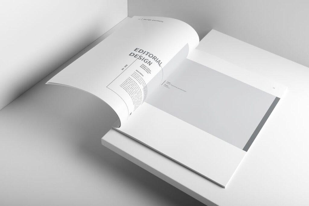 精致文艺室内设计画册模版素材Graphic Design Portfolio Template插图(3)